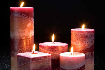 velas de parafina