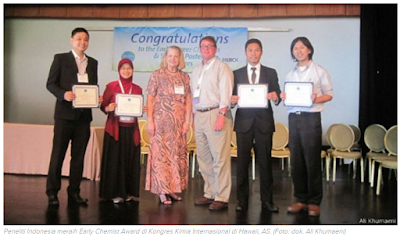 "Dosen ITS meraih penghargaan ""Early Chemist Award"" di Hawaii"