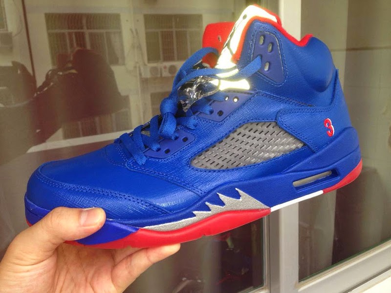 a63cff2015c4ff Air Jordan 5 Chris Paul PE Blue Sneaker Arrived