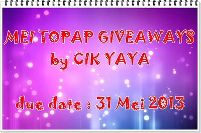 Mei topap giveaways by Cik Yaya