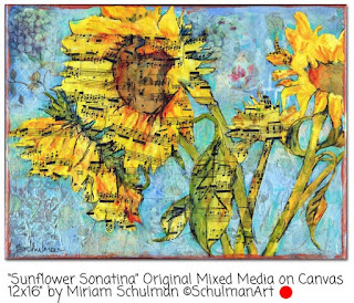 sunflower art by Miriam Schulman | disocver art like this on etsy→ https://www.etsy.com/shop/SchulmanArts/search?search_query=sunflower&order=date_desc&view_type=list&ref=shop_search