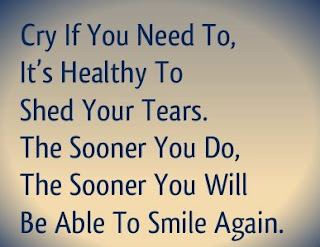 quote cry if you need and smile