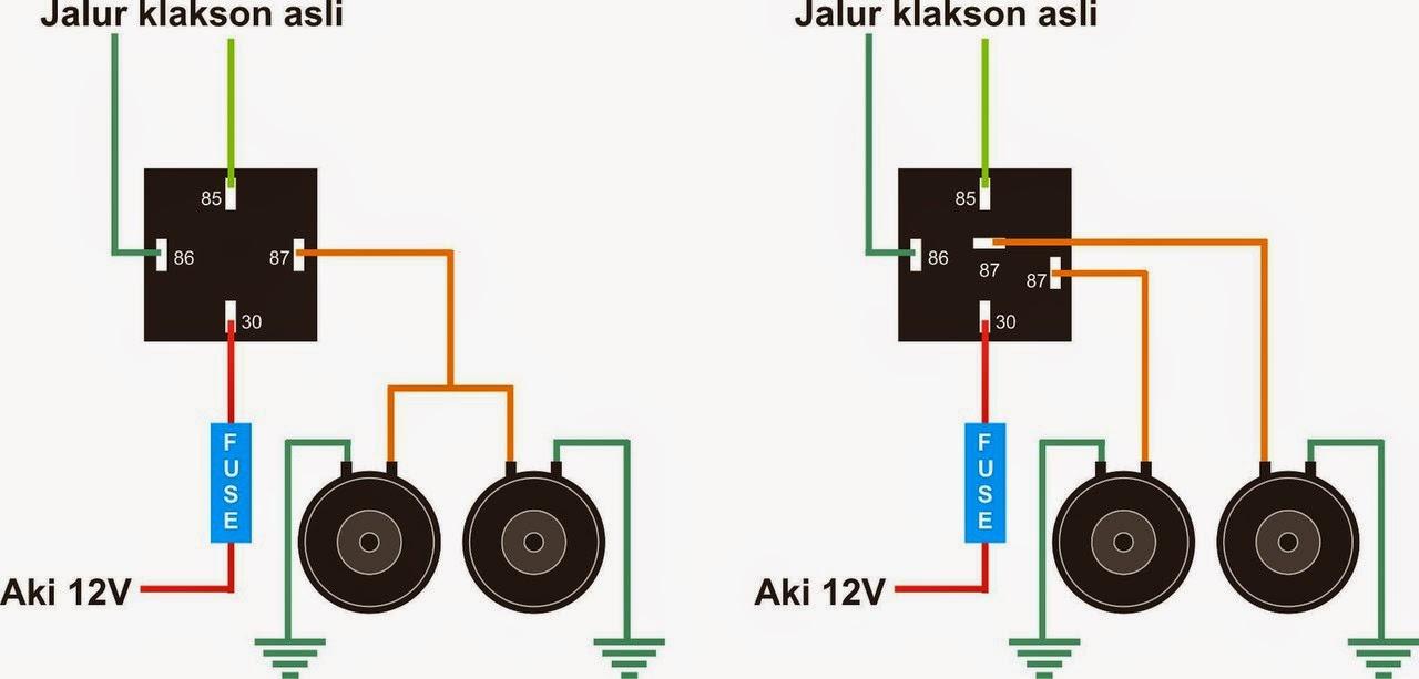 gudang info keren rh gudanginfokeren blogspot com wiring diagram relay klakson motor
