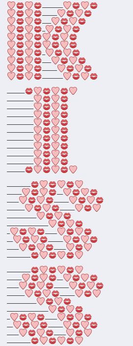 Facebook kiss emoji art