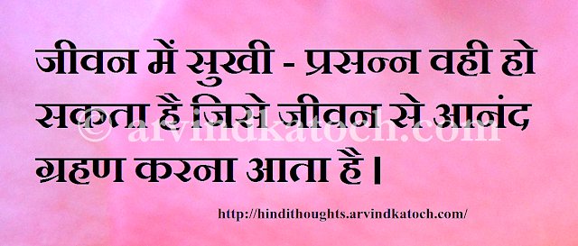 Hindi, Thought, Quote, Pleasure, Life, Picture, Image
