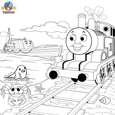 Misty Island rescue Thomas & friends coloring sea rescue boat kids printable art graphics free