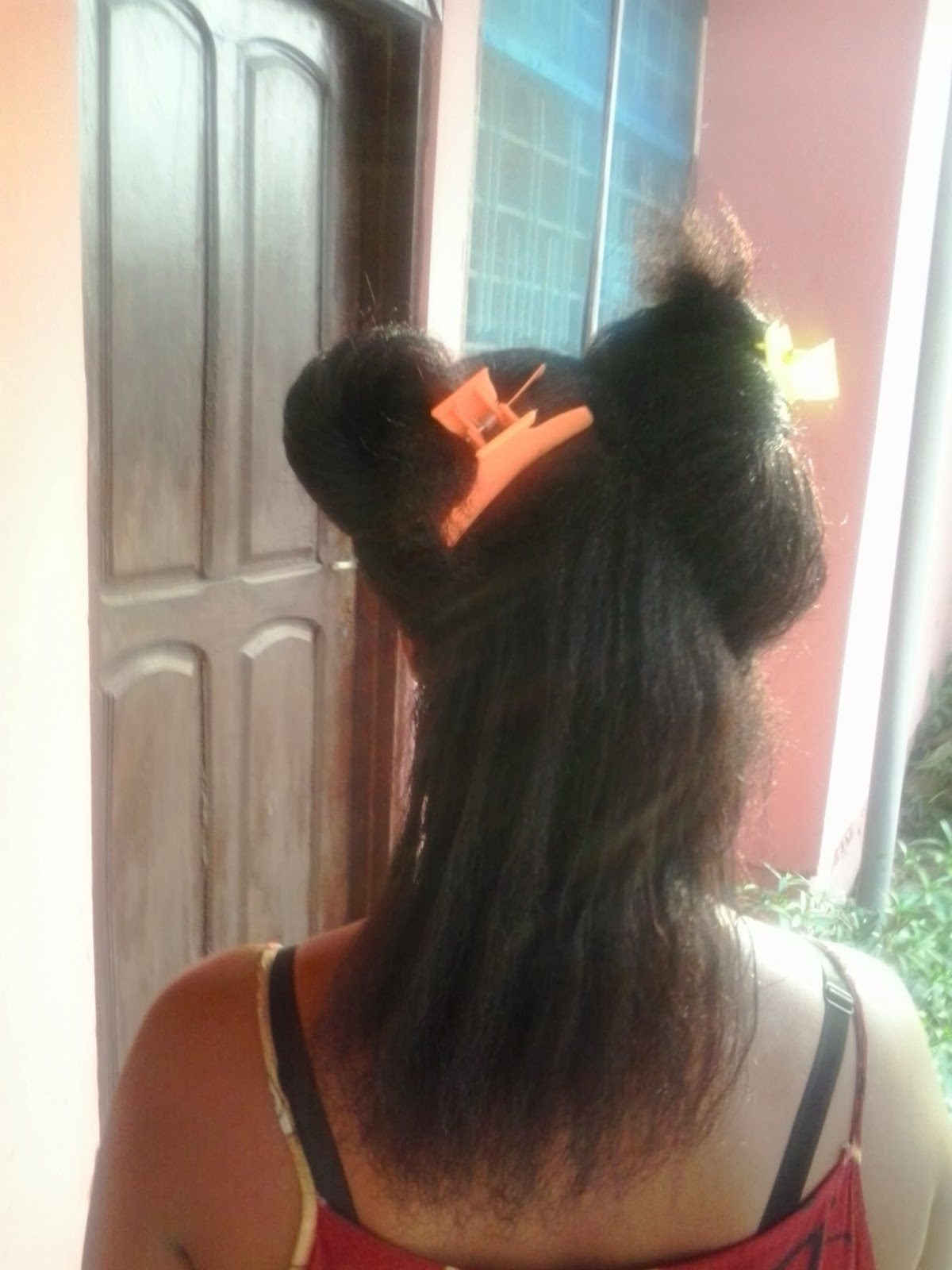 relaxed african hair