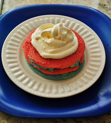 red, white and blue pancakes