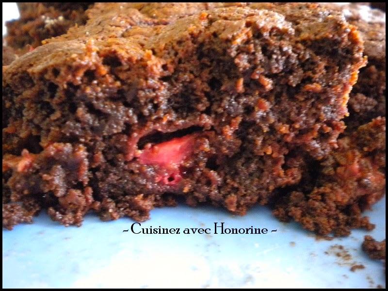 brownies chocolat fraises