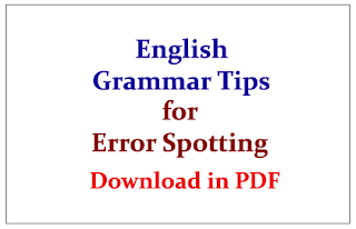 English Grammar Tips for Error Spotting in PDF