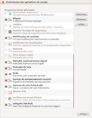 Preferencias dos aplicativos de sessão - screenshot 2