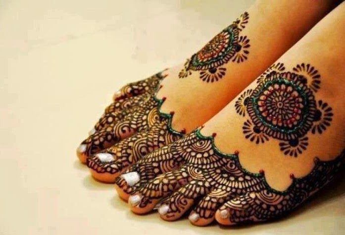 Beautiful Feet Mehndi Designs : Beautiful latest simple arabic pakistani indian bridal