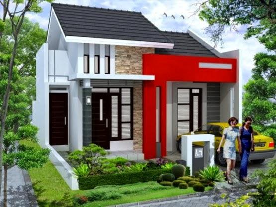 rumah minimalis dan rumah mewah dengan beberapa paduan warna cat