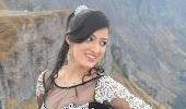 Hot richa panai latest outdoor photos in short dress