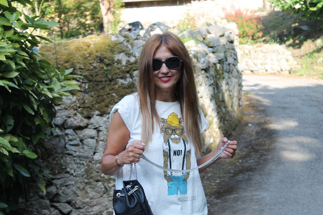 Camiseta Devota y Lomba, Isadora Comillas, Collect, Ojala, Bag, Shorts denim, Tshirt, look, summertime, Cantabria