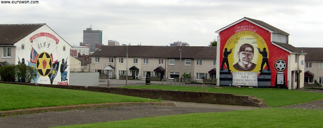 Murales en el barrio protestante de Belfast
