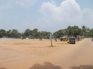 Ground for Vehicle driving tests near Alappuzha beach.