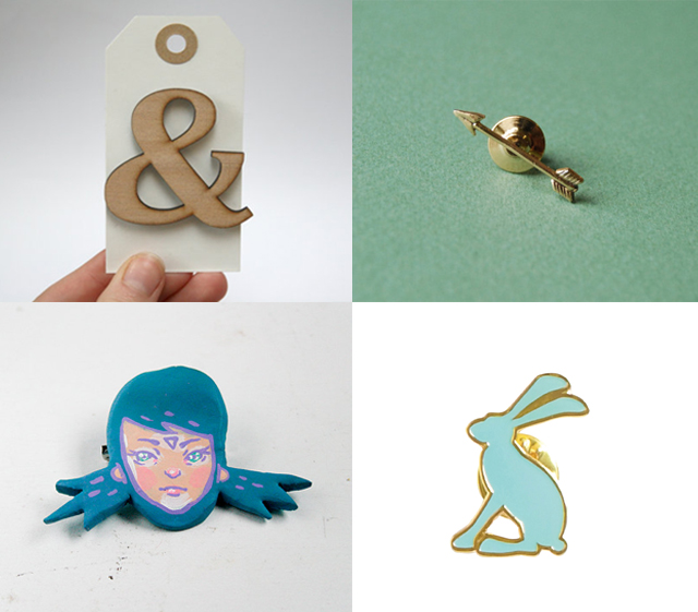 new and vintage brooches