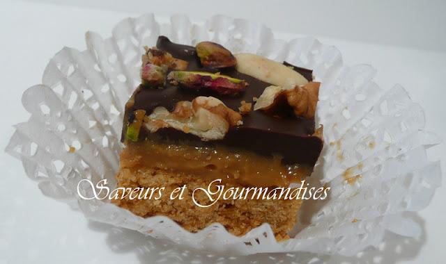 Petits Gâteaux  à la Confiture de Lait, au Chocolat et aux Fruits Secs.