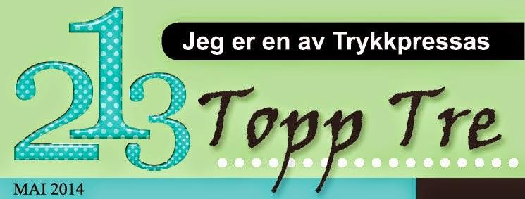 Trykkpressa - Topp tre mai 2014