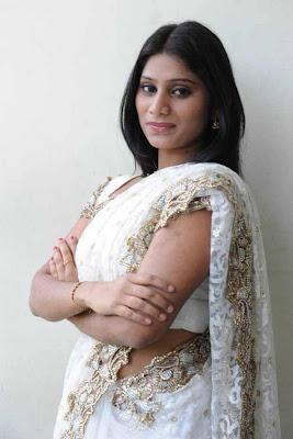 midhuna in saree actress pics