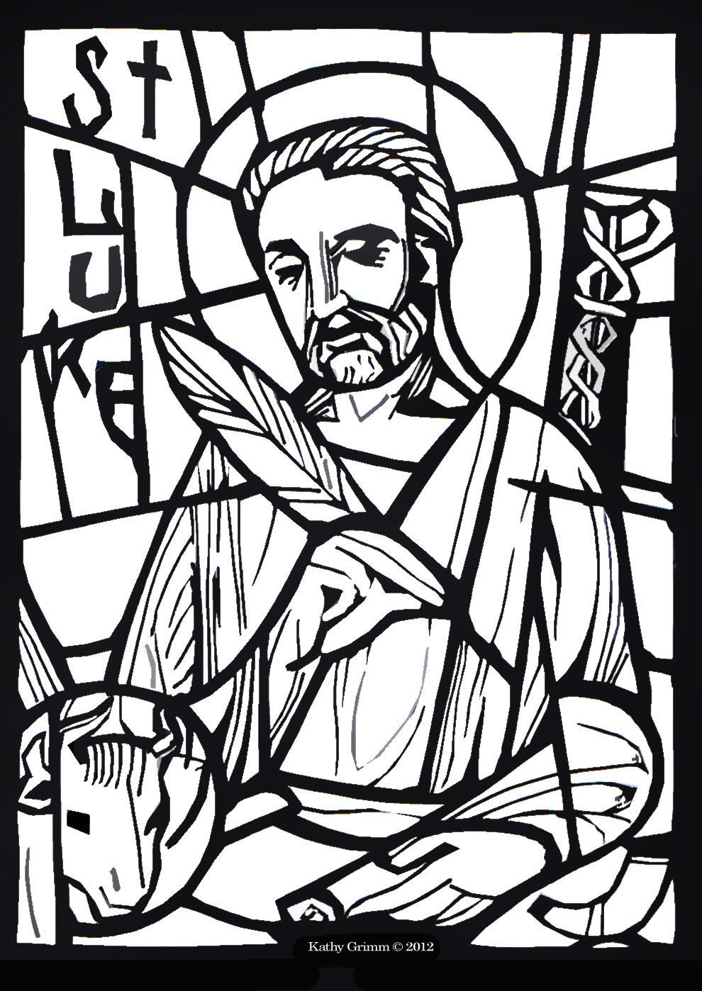 bible luke coloring pages - photo#4