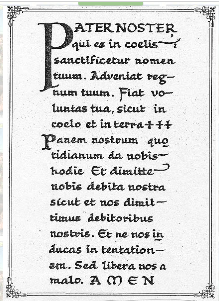 prayers pater noster