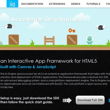 Open Source Interactive App Framework for HTML5