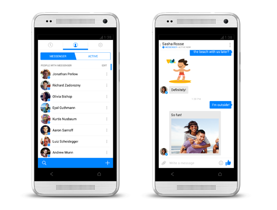 Facebook redesigned Messenger on Android that brings many new features