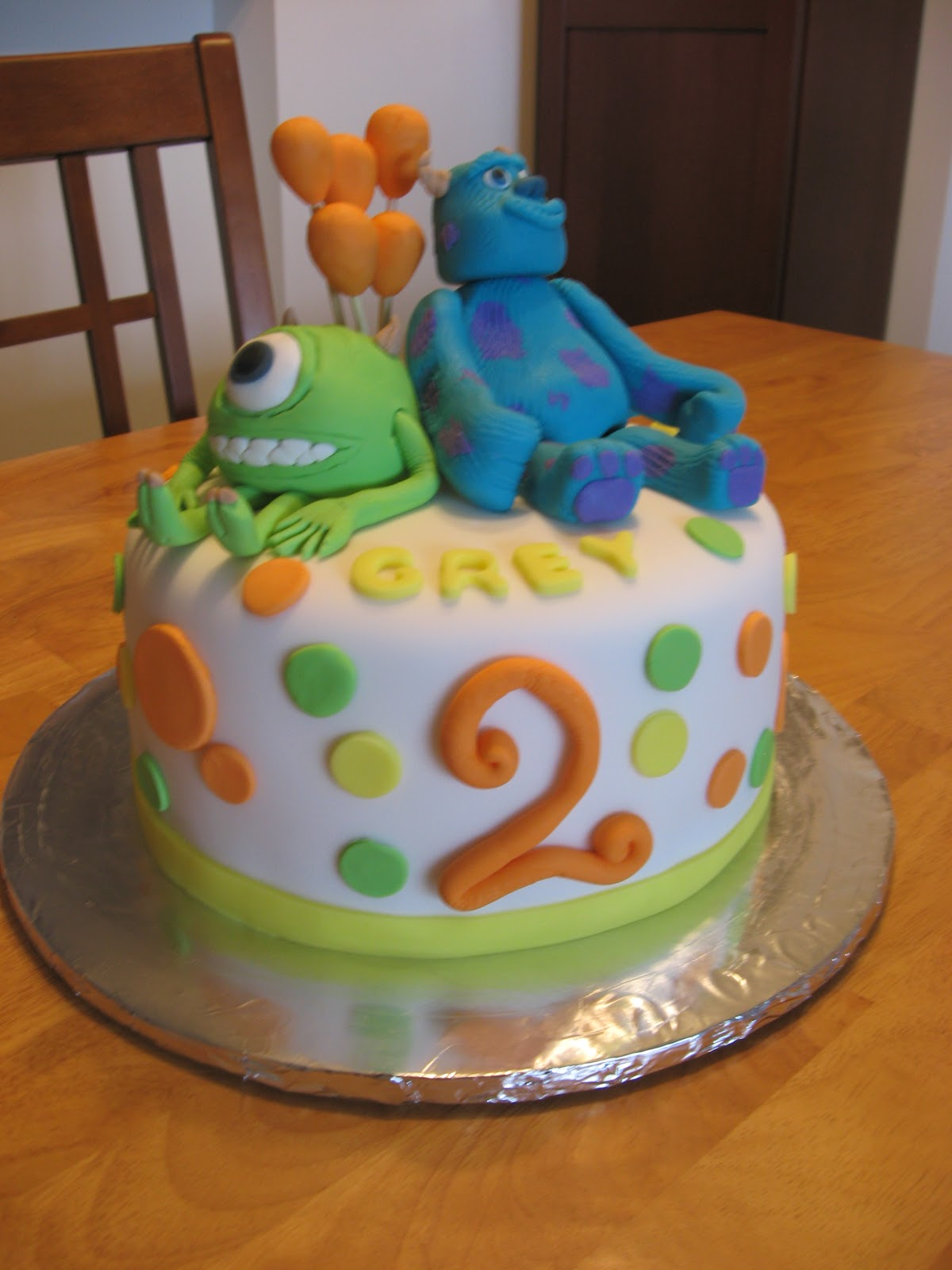 Sweet Cakes Dc Monsters Inc Birthday Cake