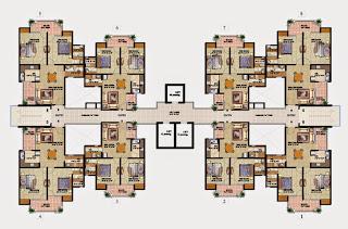 Livingston :: Floor Plans,Block E:-Cluster Plan (Type E) Unit 8