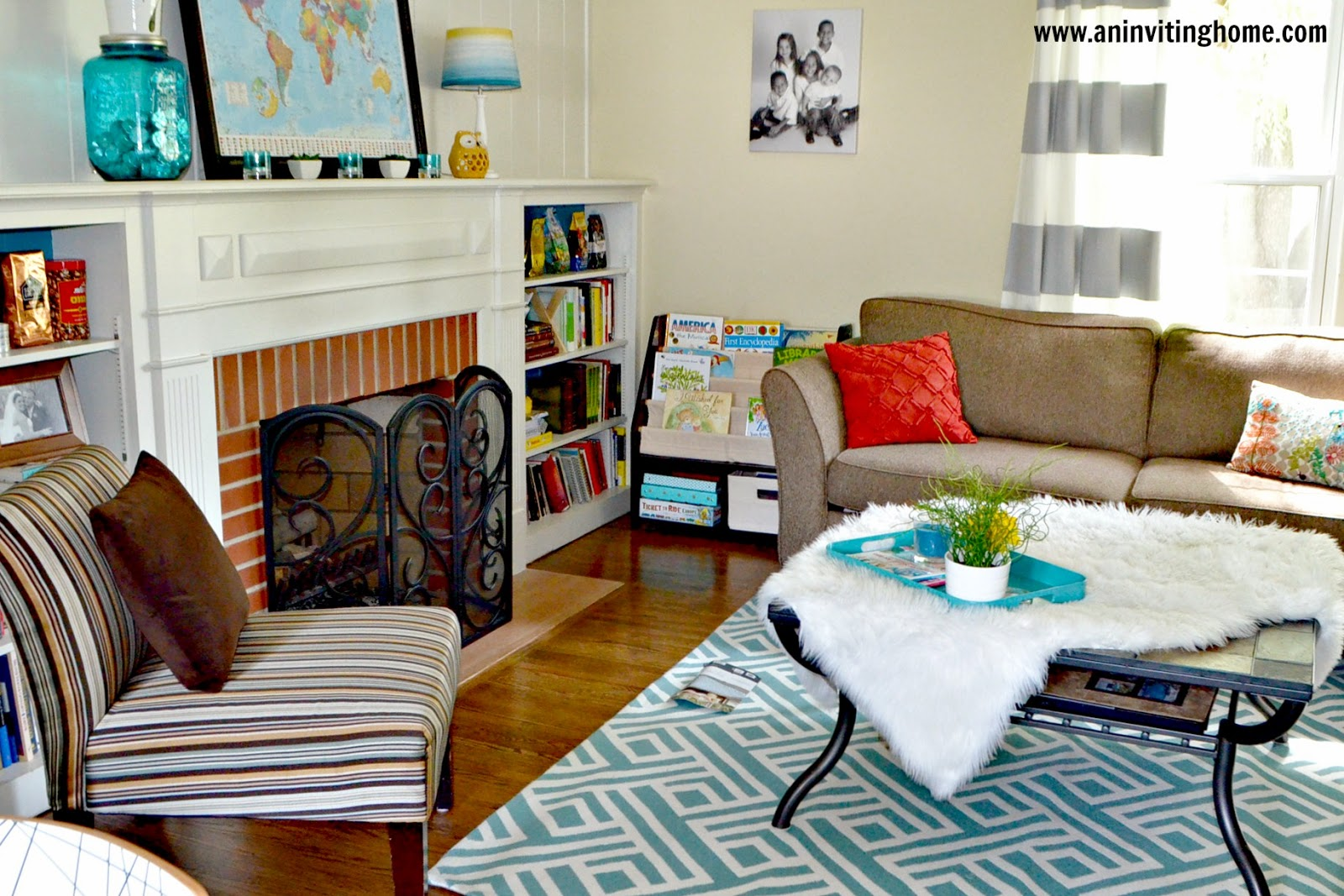 living room with Target rug