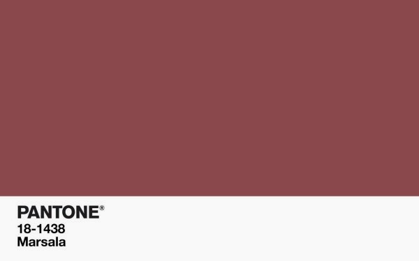 Marsala: Pantone's Color of the Year 2015