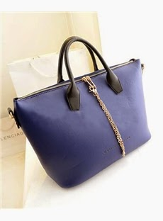 Pretty Color Block All-matched Simple Chain Retro Women's Tote Bag