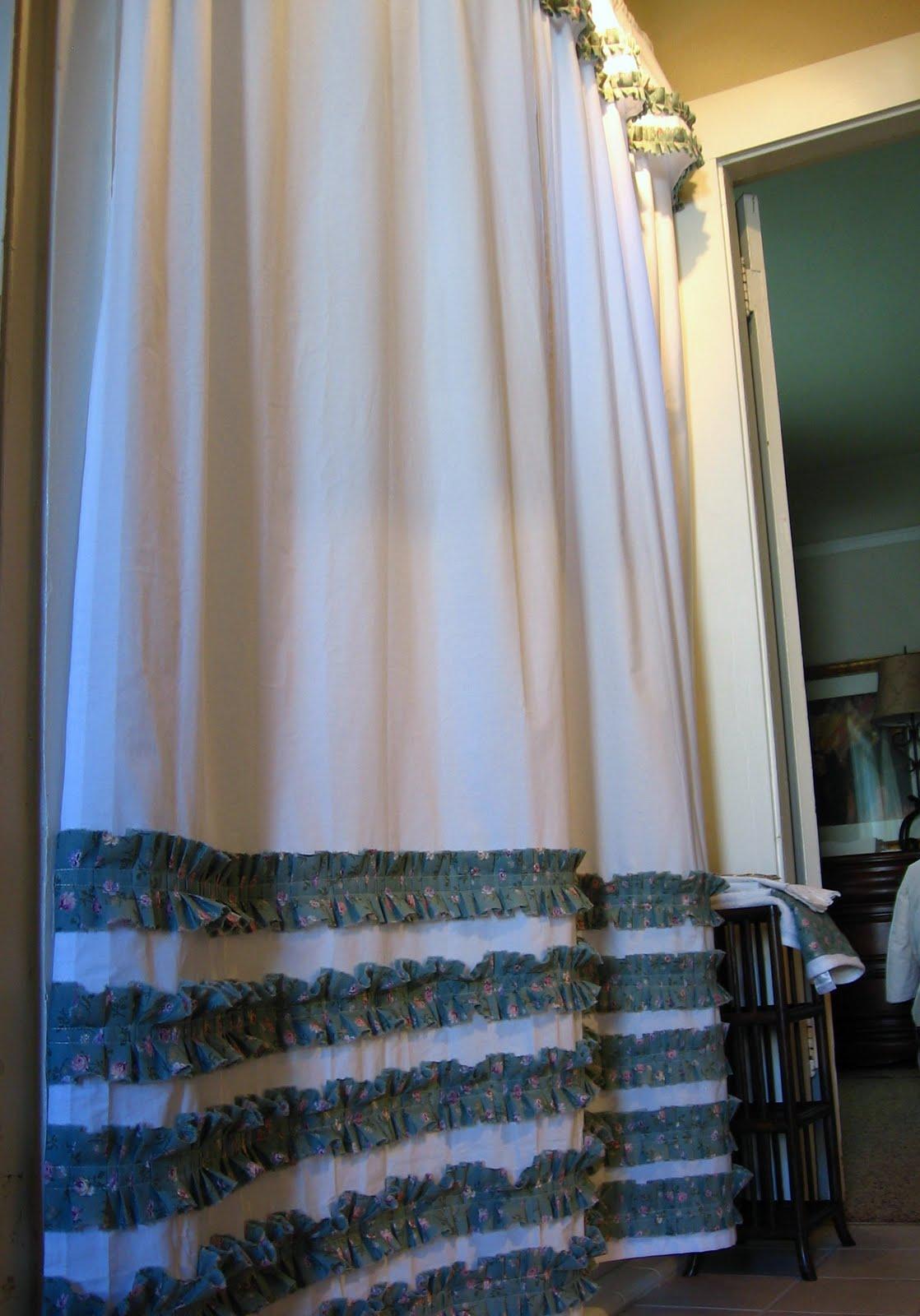 Diy ruffled shower curtain - Diy Ruffled Shower Curtain