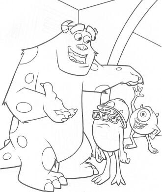 World Disney Monsters Inc Coloring Pages