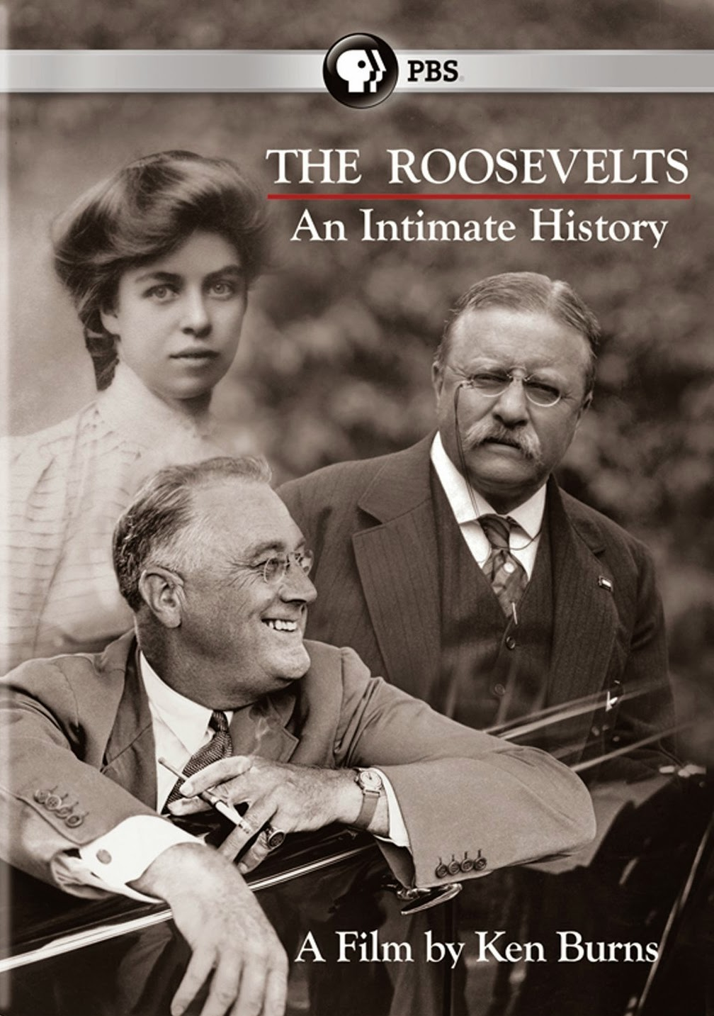 "PBS video cover for ""The Roosevelts: An Intimate History."" A film by Ken Burns"
