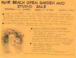 Muir Beach Open Garden and Studio Sale