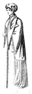 Bedford pelisse and hat    from La Belle Assemblée (Feb 1806)