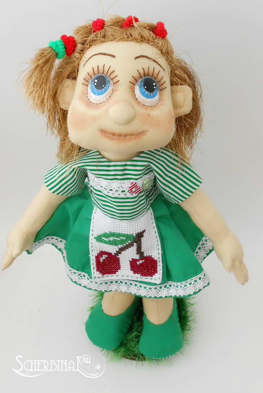 Текстильная игровая кукла-карамелька Иришка, куклы и игрушки ручной работы