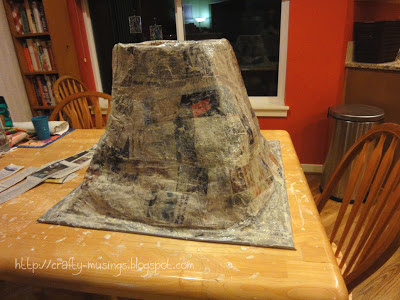 volcano-- all papered up