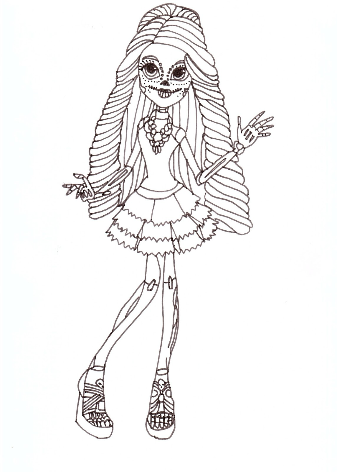 free printable monster high coloring pages skelita free coloring