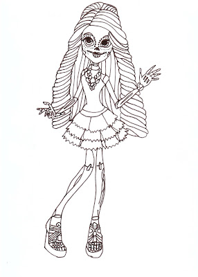 Monster High Coloring Pages Printable Free