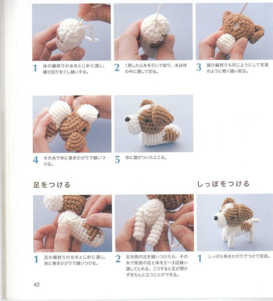 Как связать маленькую собачку крючком схема для начинающих