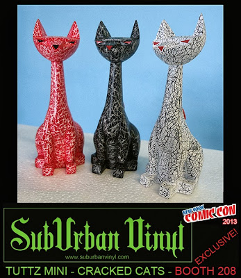 "New York Comic Con 2013 Exclusive ""Cracked"" Tuttz Mini Resin Figures by Argonaut Resins"