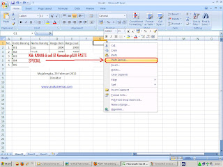 cara merubah data horizontal ke vertical