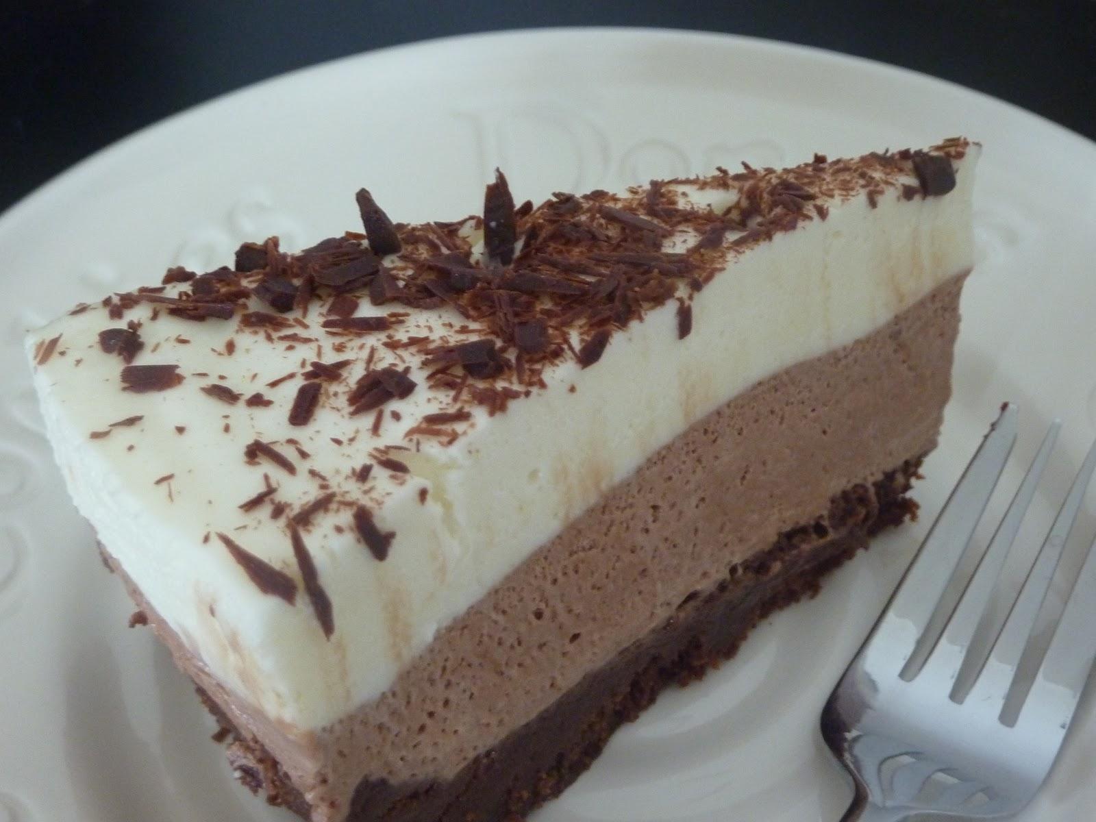 The Open Fridge: Triple Chocolate Mousse Cake