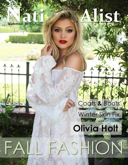 Actress, Singer @ Olivia Holt - NationAlist Magazine, September 2015