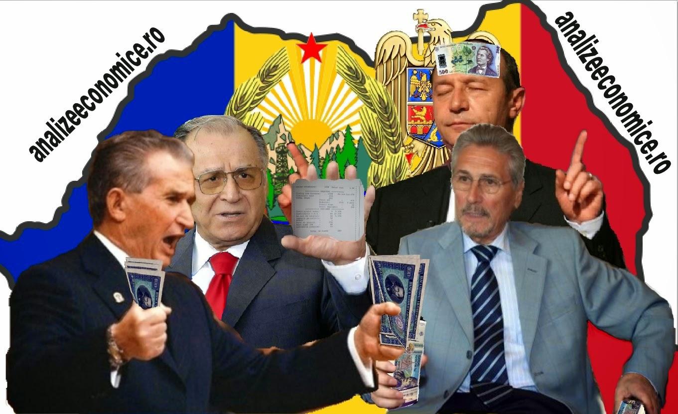 Salariile nete  ale președinților Ceaușescu, Iliescu, Constantinescu, Băsescu