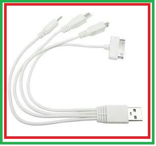 Kabel Charger Cumi USB 4 in 1